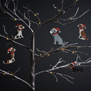 Weihnachtsbaumdeko-Hunderassen