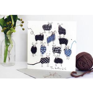 Anna Wright Grußkarte mit Umschlag The Knitting...