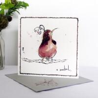 Anna Wright Grußkarte mit Umschlag A Sunbird 15 x 15