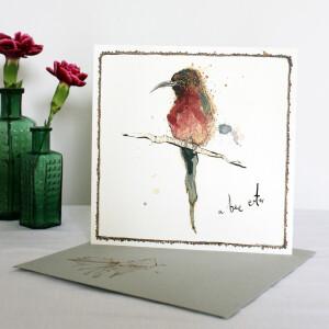 Anna Wright Grußkarte mit Umschlag A Bee Eater 15 x 15