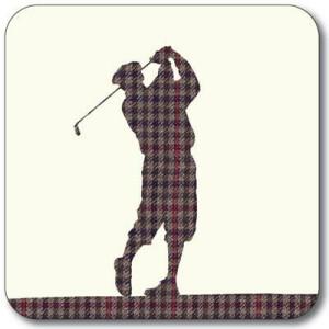 Untersetzer Untersetzer Golfer karo