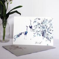 Anna Wright Grußkarte mit Umschlag Show Off 12 x 17