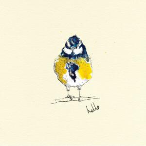 Anna Wright Grußkarte mit Umschlag Blue Tit Hello...