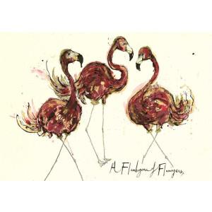Anna Wright Grußkarte mit Umschlag A Flamboyance of...