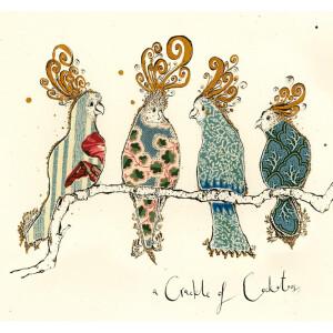 Anna Wright Grußkarte mit Umschlag Crackle of...