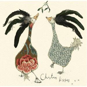 Anna Wright Grußkarte mit Umschlag Christmas Kisses...
