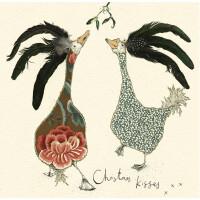 Anna Wright Grußkarte mit Umschlag Christmas Kisses 15 x 15