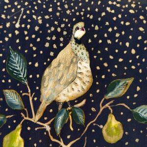 Anna Wright Grußkarte mit Umschlag A Partridge in a...