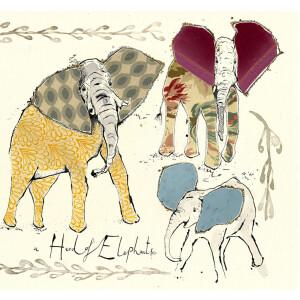 Anna Wright Grußkarte mit Umschlag A Herd of...