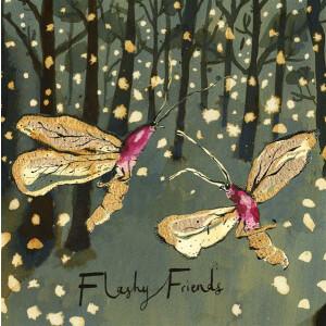 Anna Wright Grußkarte mit Umschlag Flashy Friends...