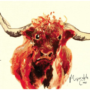 Anna Wright Grußkarte mit Umschlag Miserable Cow 15...