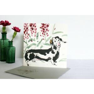Anna Wright Grußkarte mit Umschlag Tosca Dackel 15...
