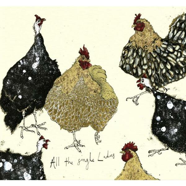 Anna Wright Grußkarte mit Umschlag All the Single Ladies 15 x 15 cm