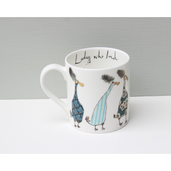 Kaffeebecher Fine Bone China Anna Wright Ladies Who Lunch Made in England
