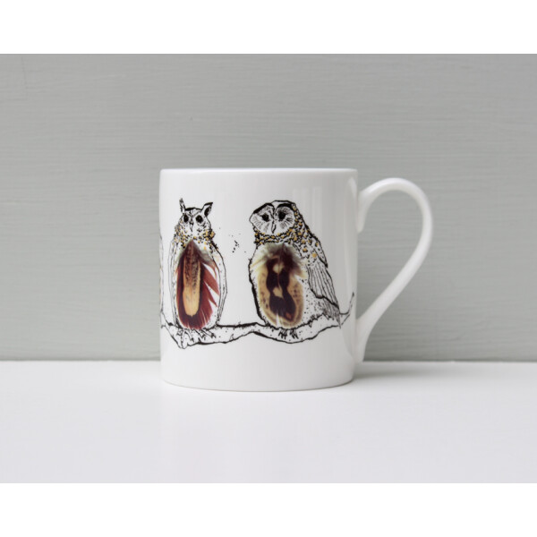 Kaffeebecher Fine Bone China Anna Wright Twitawoooo Made in England