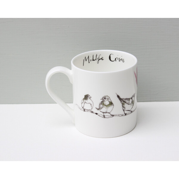 Kaffeebecher Fine Bone China Anna Wright Midlife Crisis Made in England