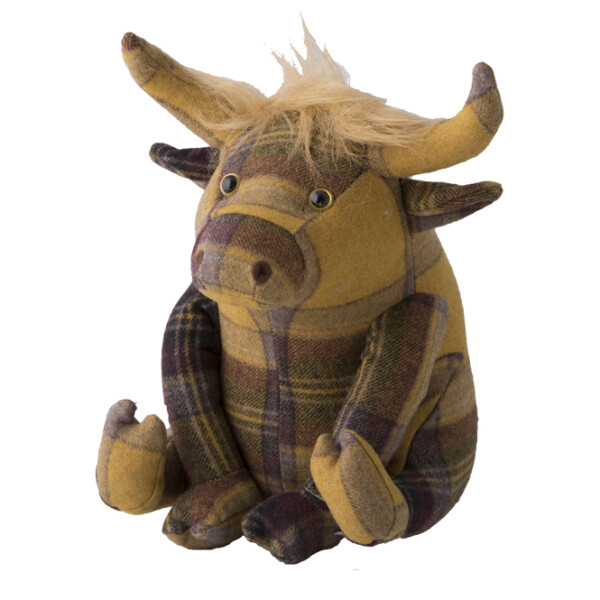 Türstopper Dora Designs Doorstop Plaid Highland Cow