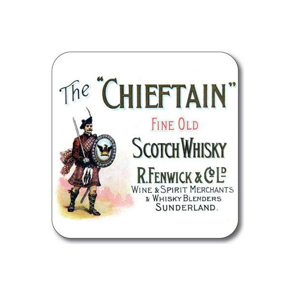 Untersetzer The Chieftain Whisky Label