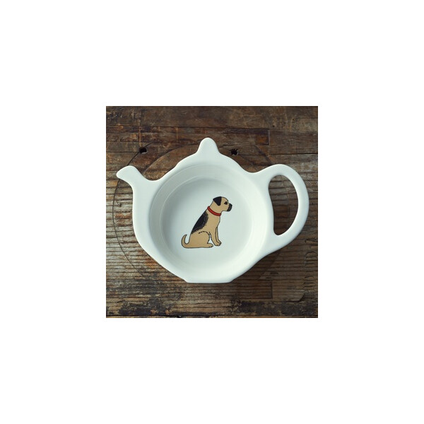Sweet William Teabag Dish - Border Terrier