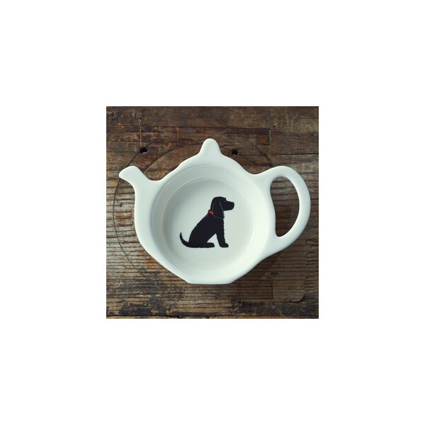 Sweet William Teabag Dish - Cocker Spaniel Black