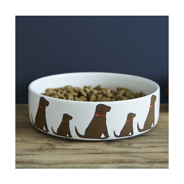 Sweet William Dog Bowl Chocolate Labrador  groß