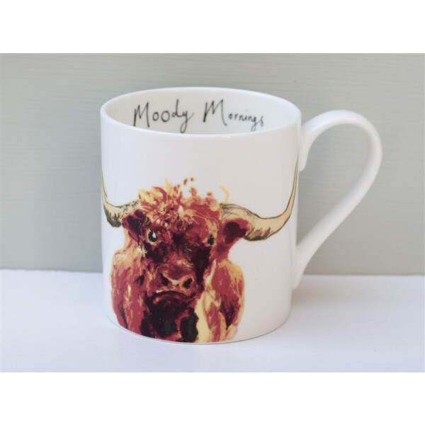 Becher Fine Bone China Anna Wright Moody Mornings Made in England