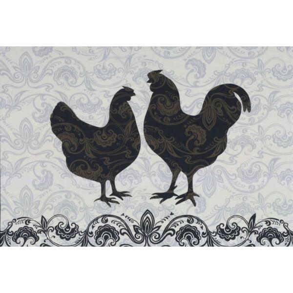 Tischset Modern Rooster