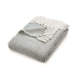 Hug Rug Woven Decke 130cm x 180cm Fischgrätmuster Grau