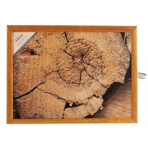 Andrews Knietablett mit Kissen Waldstrukturen Baumscheibe