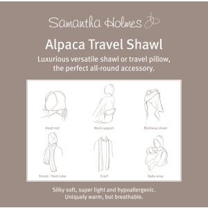Samantha Holmes Alpaka-Schal & Kissen 80cm x 180cm...