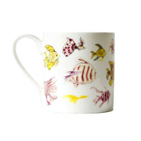 """Kaffeebecher Fine Bone China Anna Wright """"In The Pink"""" Made in England"""