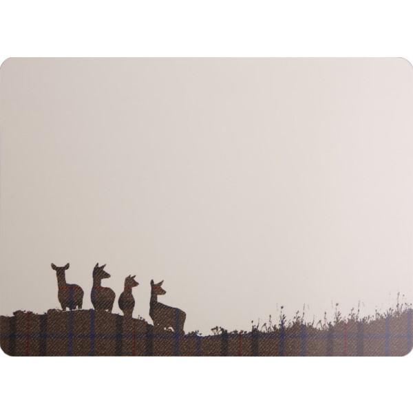 Tischset mit Korkrücken Deer