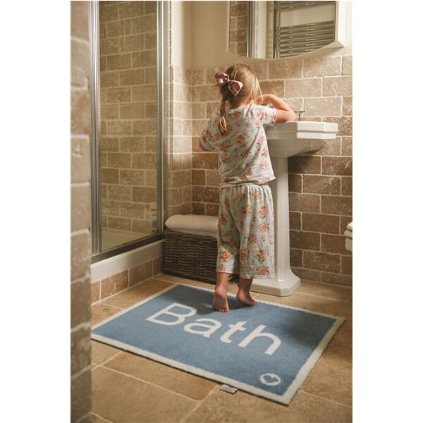 Hug Rug Design Fußmatte Bad Bath blau 65 x 85 cm - Bathroom 11
