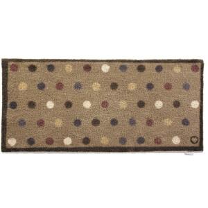 Hug Rug Design Fußmatte lang Punkte beige 65 x 150...