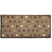 Hug Rug Design Fußmatte lang Punkte beige 65 x 150 cm – Spot 10