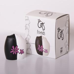 """""""Friends"""" Katzenfreunde mit Blume 8 cm..."""