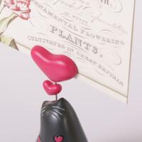 """Love"" Notizhalter Bilderhalter 10 cm Katzenfigur Dekofigur Katzen"
